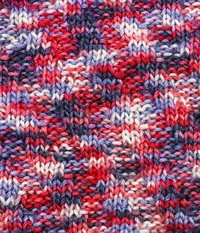 Tissu en laine tricoté