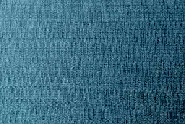 Tissu de lin bleu tissé
