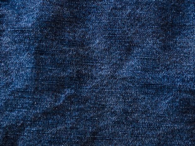 Tissu matériel bleu close-up