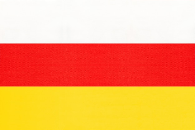 Tissu national drapeau de tissu d'ossétie du sud fond, symbole du monde pays asiatique,