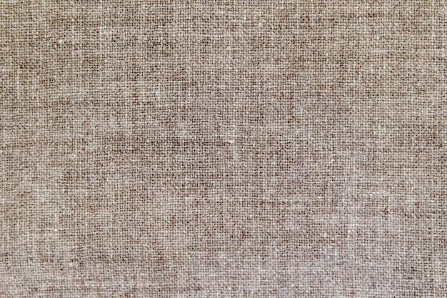 Tissu naturel en coton lin, texture de fond écologique
