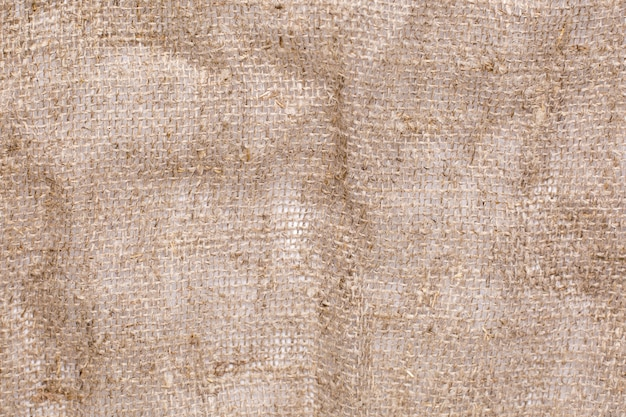 Tissu naturel lin texture fond vue de dessus