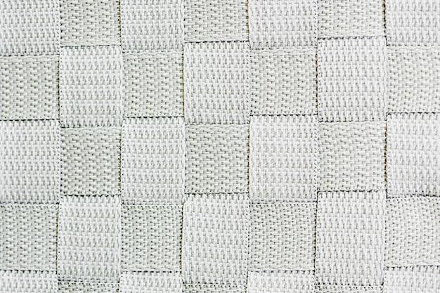 Tissu de quadrillage tissé blanc