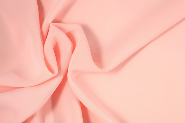 Tissu rose froissé