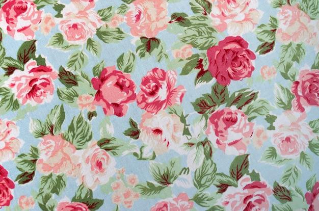 Tissu rose motif