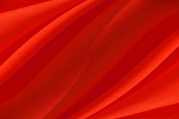 Tissu rouge à motif de vagues