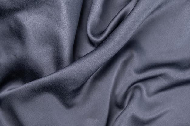 Tissu satin de soie ondulé gris bleu violet ondulé