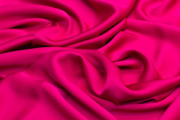 Tissu en soie cadi cramoisi