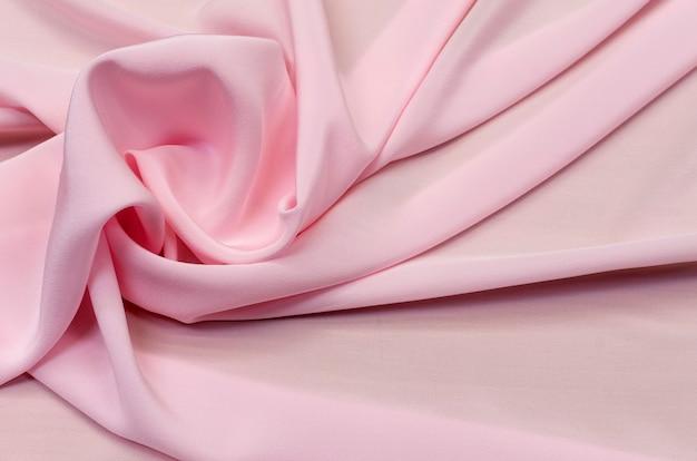 Tissu en soie, crêpe de chine rose clair