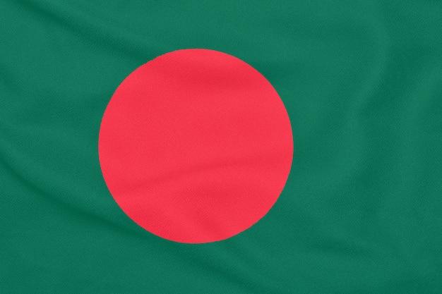 Tissu texturé avec drapeau du bangladesh