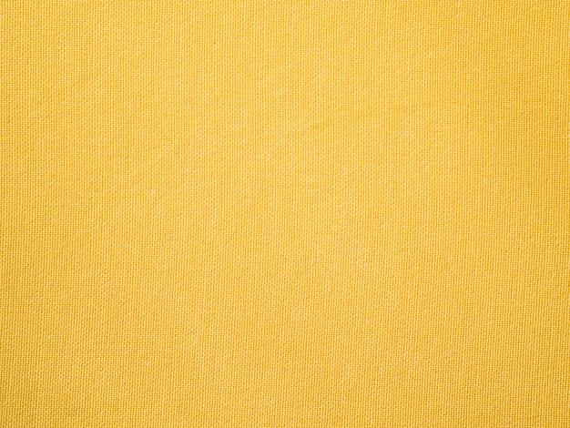 Tissu en tissu jaune gros plan