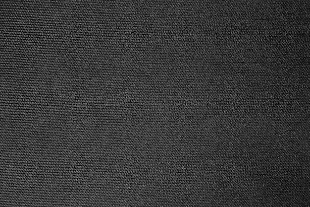 Tissu en tissu noir texture polyester et fond textile.