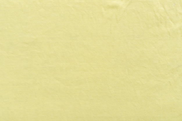 Tissu de toile de fond de texture de toile de fond textile. jaune.