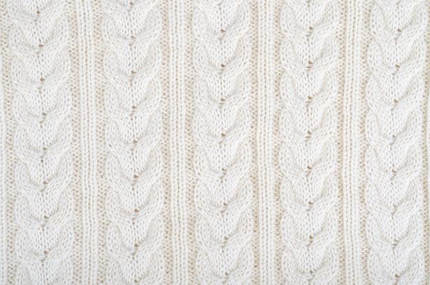 Tissu tricoté en surface, motif avec des nattes