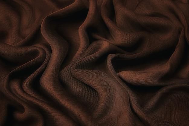 Tissu velours luxueux de couleur cacao. arrière-plan et motif.