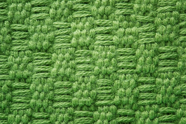Tissu vert closeup