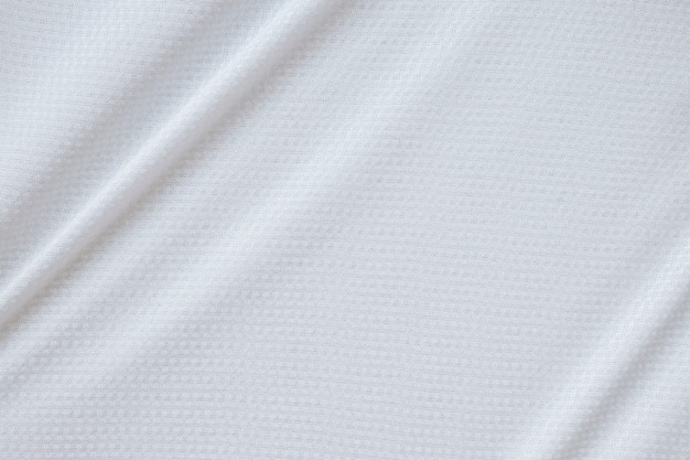 Tissu de vêtements de sport blanc maillot de football jersey texture background