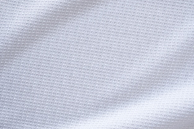 Tissu de vêtements de sport blanc maillot de football maillot texture abstrait