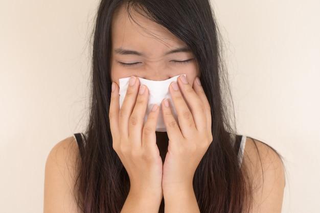 Tissus de soins de santé en blanc médicale allergie