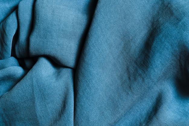 Tissus solides bleu océan sinueux pour rideaux