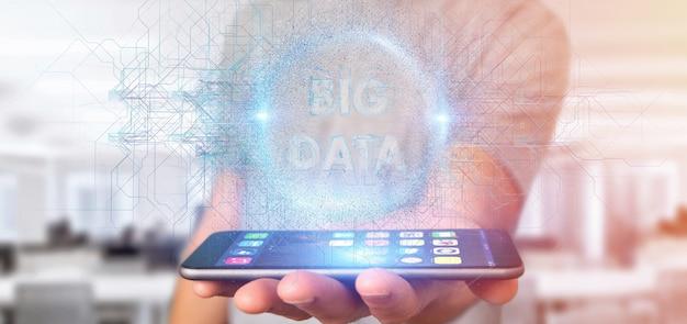 Titre de données big data détenu par un homme
