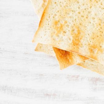 Toast vue de dessus pour sandwich