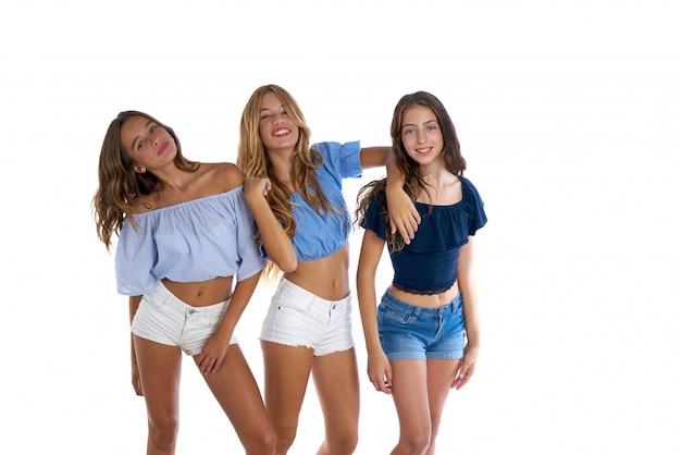 Toi adolescents meilleurs amis filles heureux ensemble