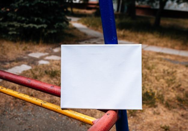 Toile d'affiche modèle vide blanc
