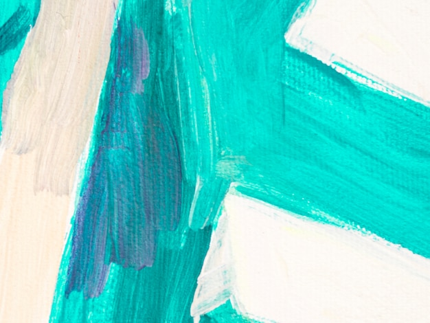 Toile blanche avec trait bleu vif