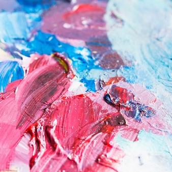 Toile de fond abstrait peinture colorée mixte