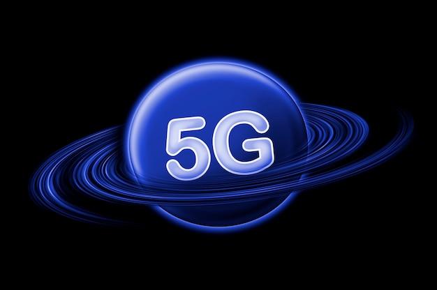 Toile de fond internet 5g. concept internet mobile sans fil