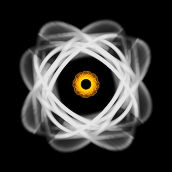 Toile de fond lumière kaléidoscope abstraite