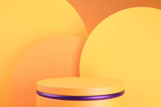 Toile de fond orange podium pour halloween.