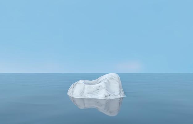 Toile de fond de podium de beauté naturelle avec pierre de marbre pour l'affichage de produits cosmétiques. fond de composition de scène 3d abstrait. fond de paysage marin.
