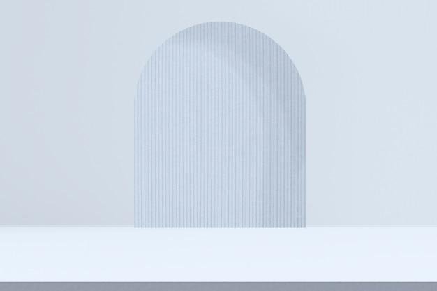 Toile de fond de produit bleu avec espace de conception