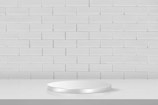 Toile de fond de produit en brique blanche minimale