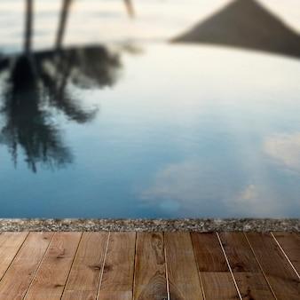Toile de fond de produit d'été, piscine