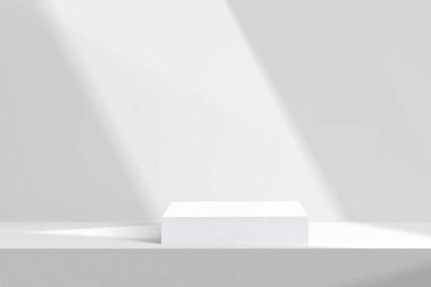 Toile de fond de produit minimal avec mur blanc