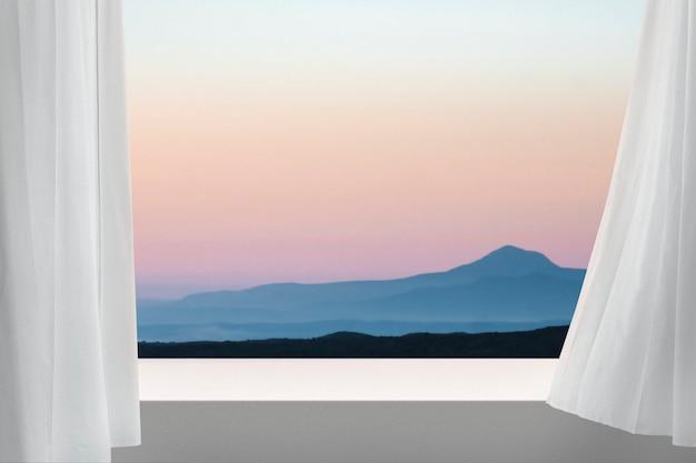 Toile de fond de produit de montagne avec espace de conception
