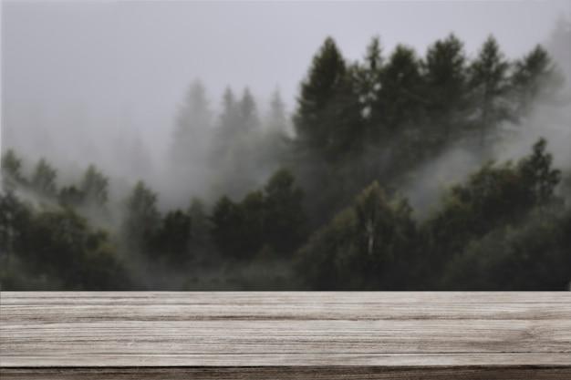 Toile de fond de produit nature, pin et montagne