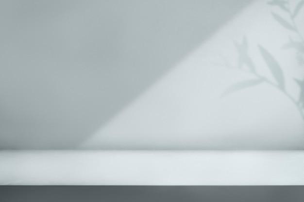 Toile de fond de produit d'ombre végétale esthétique