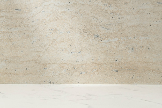 Toile de fond de produit en pierre beige, présentoir de vitrine