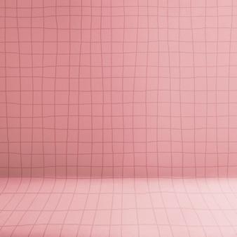 Toile de fond de produit rose, étagère à motif de grille
