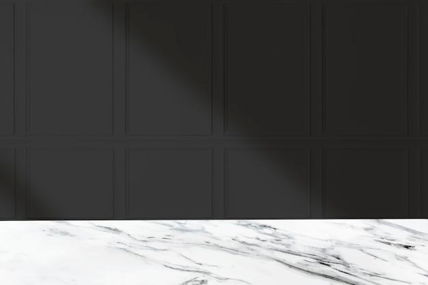 Toile de fond de produit sombre, mur noir