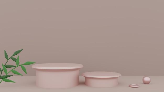 Toile de fond ronde de beauté naturelle pour l'affichage de produits cosmétiques. photo premium