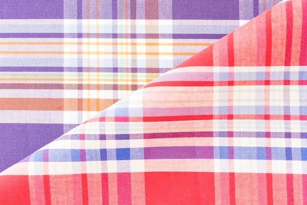 Toile de fond de tissu à carreaux coloré