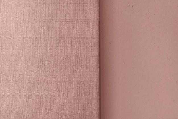 Toile de lin rose tissée