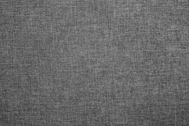 Toile tissu texture d'arrière-plan, lin macro fond, toile de fond gris foncé