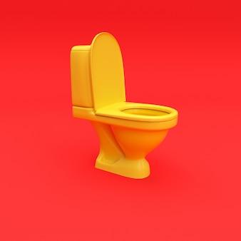 Toilette jaune sur erd rendu 3d