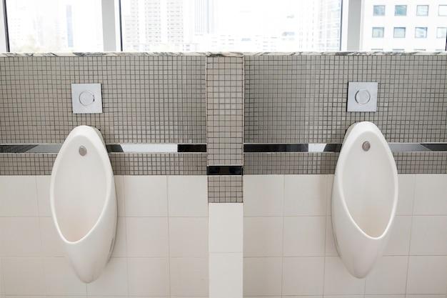 Toilettes de luxe et urinoirs de remorquage pour homme.